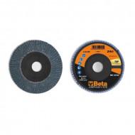 Disc lamelar abraziv pentru slefuit, zirconiu, spate plastic, Ø125mm, TOP LINE 11212B