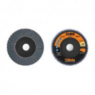 Disc dublu lamelar abraziv pentru slefuit, zirconiu, spate plastic, Ø115mm, TOP LINE 11214A
