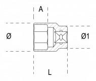 Tubulara bihexagonala actionare 3/8', 13mm 910B