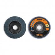 Disc conic lamelar abraziv pentru slefuit, zirconiu, spate fibra de sticla, Ø115mm, TOP LINE 11220A