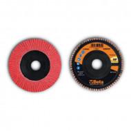 Disc lamelar abraziv, ceramic, spate plastic, Ø115mm TOP LINE 11246A