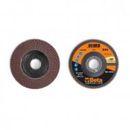 Disc lamelar abraziv din corindon pentru slefuit, spate fibra de sticla, Ø125mm, TOP LINE 11234B