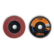 Disc lamelar abraziv din corindon pentru slefuit, spate plastic, Ø125mm, PREMIUM LINE 11230B