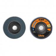 Disc lamelar abraziv pentru slefuit, zirconiu, spate fibra de sticla, Ø115mm, TOP LINE 11216A