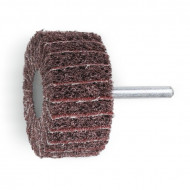 Perie lamelara abraziva si fibra sintetica din corindon Ø80mm, cu tija Ø6mm 11276C