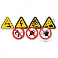Set 7 semne avertizare, rama aluminiu 7109/S7