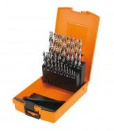 Set burghie HSS, 1-10mm, 19 piese 412/SP19P