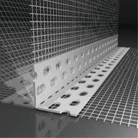 Profil PVC cu unghi variabil, cu plasa, 25m/rola