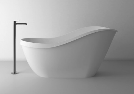 Cada freestanding din compozit Cast Marble Sorrento 169,3x71,5 cm