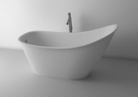 Cada freestanding din compozit Cast Marble Bergamo 158x73 cm