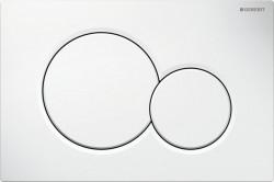 Clapeta de actionare apa WC, Geberit Sigma 01, finisaj alb