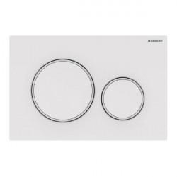 Clapeta de actionare apa WC, Geberit Sigma 20, finisaj alb -alb mat