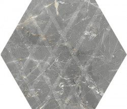 Faianta MarvelStone Hexagon Light Grey, Paradyz Ceramica, mata, 19,8x17,1 cm