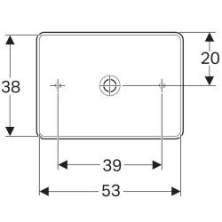 Lavoar pe blat Geberit Variform dreptunghiular fara preaplin 55x40 cm