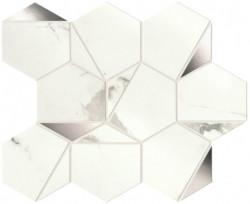 Mozaic Marvel Shine Statuario Supremo Platino Hex lucios
