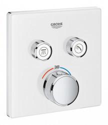 Baterie dus alba Grohe Grohtherm SmartControl patrata termostatica