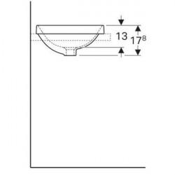 Lavoar semiincastrat Geberit Variform rotund cu preaplin 40 cm Geberit