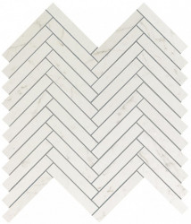 Marvel Stone Carrara Pure Herringbone Wall 30,5x30,5