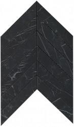 Marvel Stone Nero Marquina Chevron Wall 30,5x25