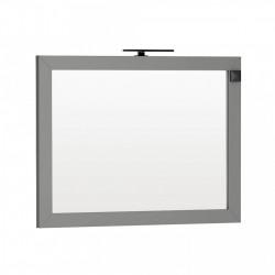 Oglinda cu iluminare si priza Oristo Wave 120 x 90 cm