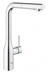 Baterie bucatarie Grohe Essence New inalta cu dus extractabil