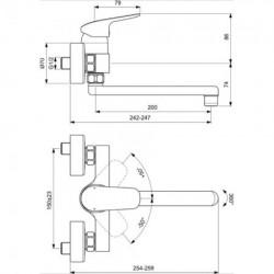 Baterie bucatarie Ideal Standard Ceraflex cu prindere in perete
