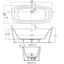 Cada freestanding Ideal Standard Dea 170x75