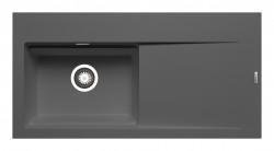 Chiuveta granit TEKTON 100x51 1B 1D ST Iron Grey