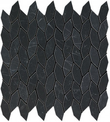 Marvel Stone Nero Marquina Twist Mosaic 30,5x30,5