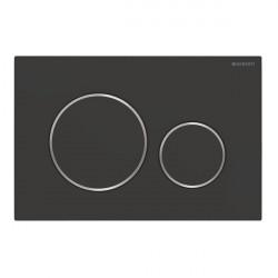 Clapeta actionare rezervor incastrat Sigma 20 negru mat lacuit-crom easy to clean Geberit