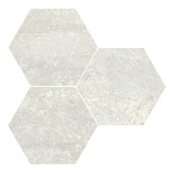 Hexagon gresogranit Rust White natural Apavisa Porcelanico, 10mm, 25x30 cm