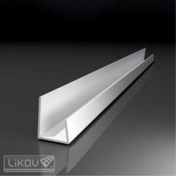 Profil 'J' PVC, 12.5mm; 2.5m/buc