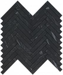Marvel Stone Nero Marquina Herringbone Wall 30,5x30,5