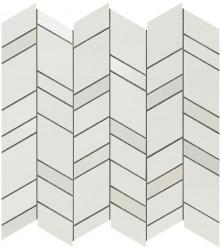 Mozaic MEK Alb, Chevron, 30,5x30,5 cm