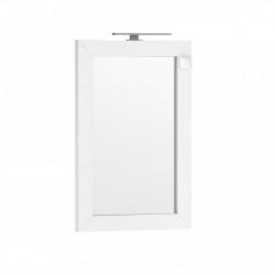 Oglinda cu iluminare si priza Oristo Wave 60x90 cm