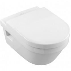 Set vas WC suspendat Villeroy&Boch Omnia Architectura, DirectFlush, 37x53 cm si capac WC soft close, detasabil