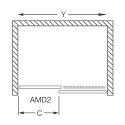 Usa culisanta cu parte fixa Roltechnik Ambient Line 120 cm