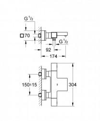 Baterie cada Grohe Grohtherm Cube termostatica