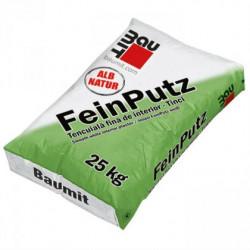 Baumit FeinPutz - Tencuiala fina alba de interior (Tinci) 40 Kg, 25kg