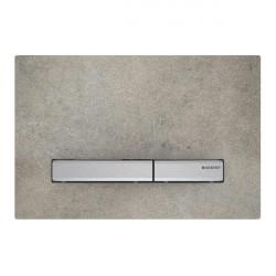 Clapeta de actionare Geberit Sigma 50 aspect beton, butoane crom