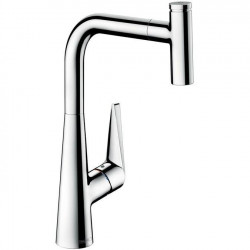 Baterie bucatarie Hansgrohe Talis Select S 300 cu dus extractibil
