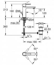 Baterie lavoar Grohe Lineare marimea S