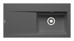 Chiuveta granit TEKTON 100x51 1B 1D DR Iron Grey