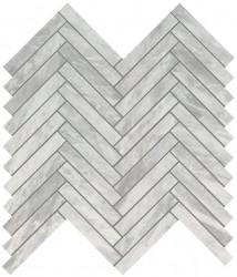 Marvel Stone Bardiglio Grey Herringbone Wall 30,5x30,5