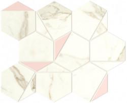Mozaic Marvel Shine Calacatta Prestigio Rose Hex Silk
