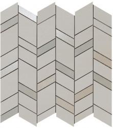 Mozaic MEK Gri deschis, Chevron, 30,5x30,5 cm