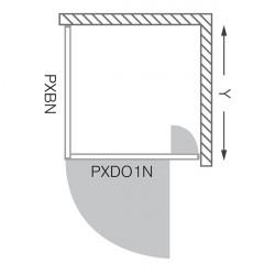 Set promo Roltechnik usa de dus pivotanta Proxima 90 cm si panou lateral Proxima 90 cm