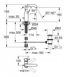 Baterie lavoar Grohe Essence New M