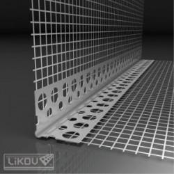 Coltar aluminiu cu plasa fibra sticla 2.5m/buc