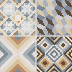 Gresie Diamante Colour Gres, Paradyz Ceramica, mata, Mix B, 40x40 cm